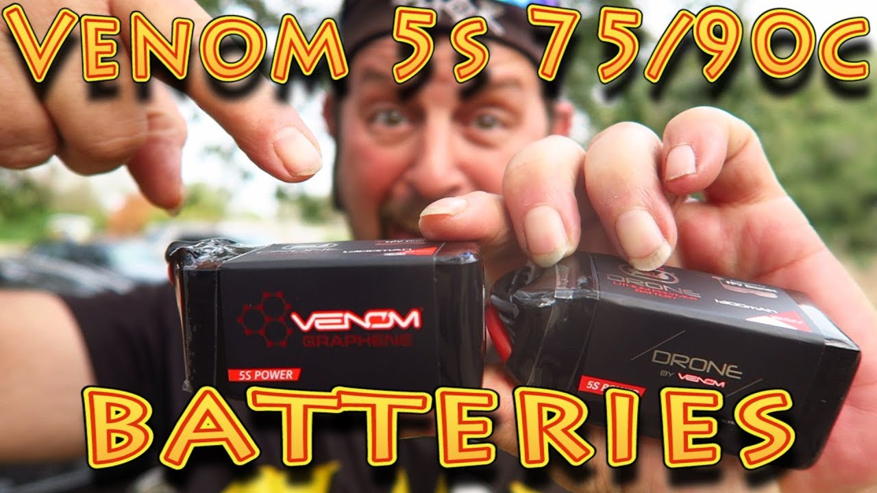 Review: Venom 5S 75C 90C FPV Drone Batteries!!! (02 04 18)