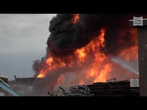 Großbrand bei ALBA