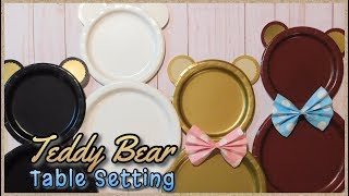 Teddy Bear Table Setting