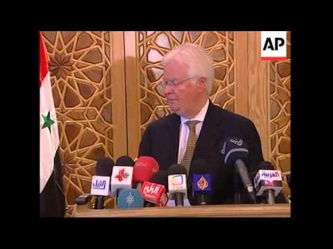 UN Rep meets Syrian VP as turmoil reigns in neighbouring Lebanon