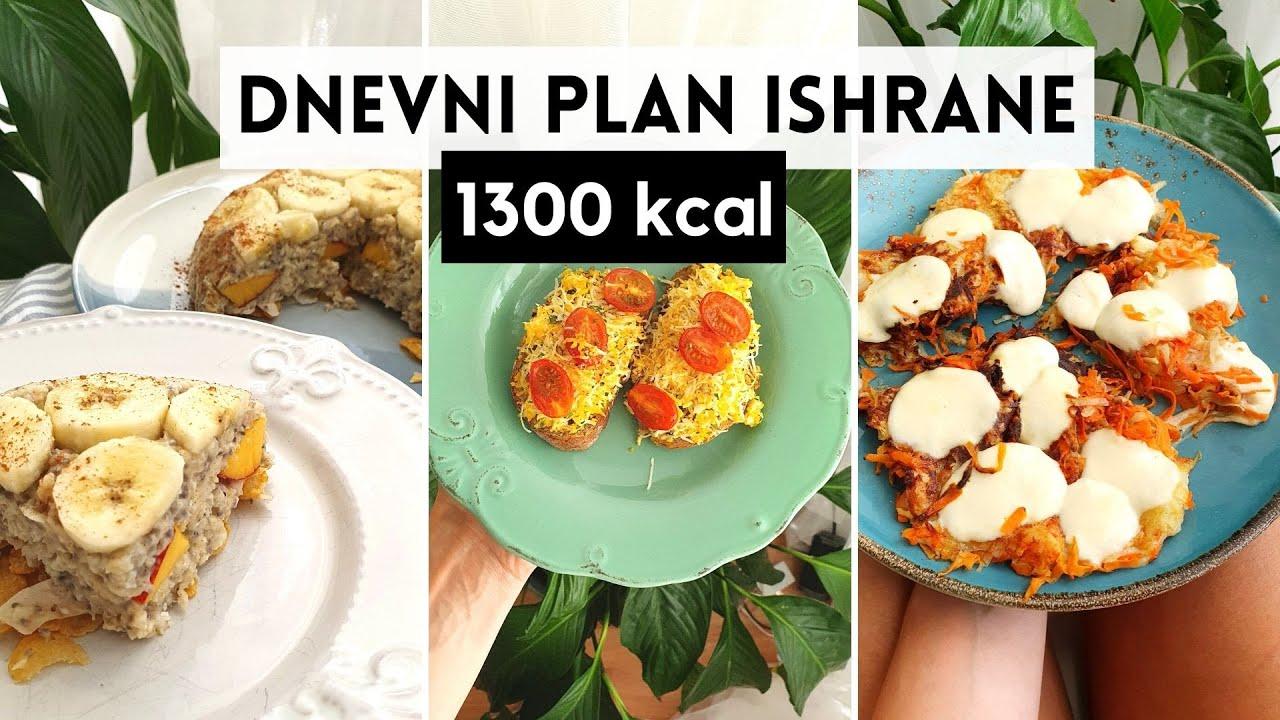 Predlog dnevnog plana ishrane I 1300 kcal