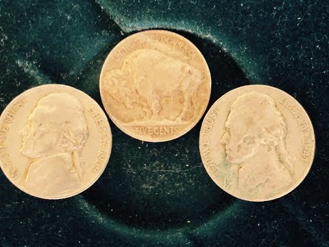 1938 Buffalo Nickel, 1939 1941 Jefferson Nickel (All Found in Same Bank Roll of Coins)