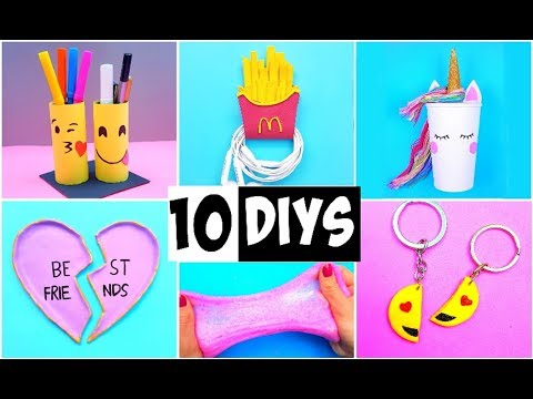 MAKING 10 AMAZING DIY BFF Gift Ideas, School Supplies, Room Decor & Organization COMPILATION!