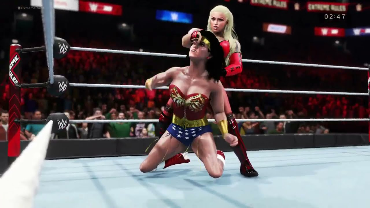 WWE 2K20 - Wonder Woman vs. Karen Shelly - Epic Girl Fights 💜