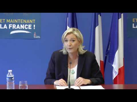 Brexit - Conférence de presse de Marine Le Pen