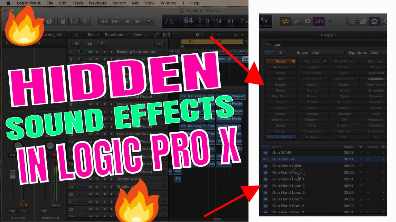 How to access FREE SOUND EFFECTS In LOGIC PRO X | Logic Pro