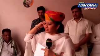पिता के समर्थन में वोट मांगने रेवाड़ी पहुंची Aarti Rao ने किए बड़े ऐलान #Exclusive