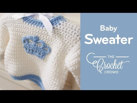 6ff1b151bc9aa4 Crochet Children s Sweater - YouTube