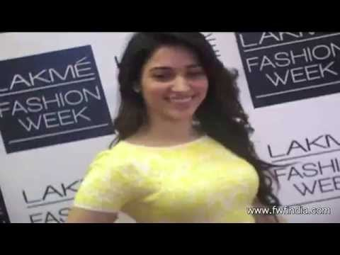 Tamanna Bhatiya,Sonal Chauhan At Lakme Fashion Week 2014 Travel Video