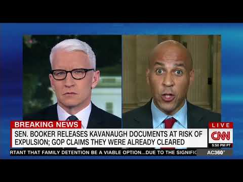 Anderson Cooper Presses Cory Booker On Changing Timeline Behind Spartacus Stunt