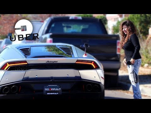 Picking up UBER Riders in my LAMBORGHINI HURACAN!
