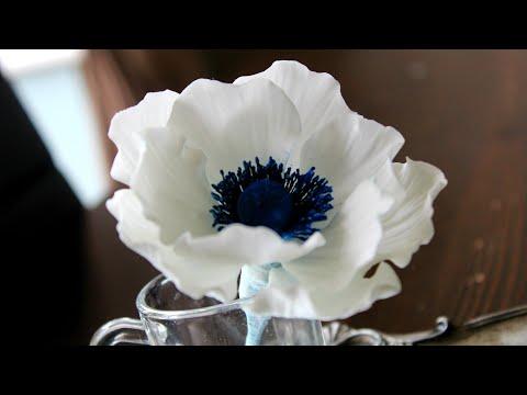 How To Make A Fondant Gumpaste Sugar Anemone Flower #sugaranemone #sugaranemonetutorial