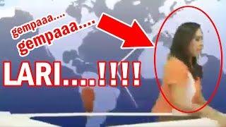 MENAKUTKAN! Gempa, Pembawa Berita TV Lari   Petugas PLN Di Tiang Listrik   - Bali Today