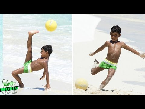 Thumbnail: Cristiano Ronaldo's Son Shows Off Football Skills on the Beach