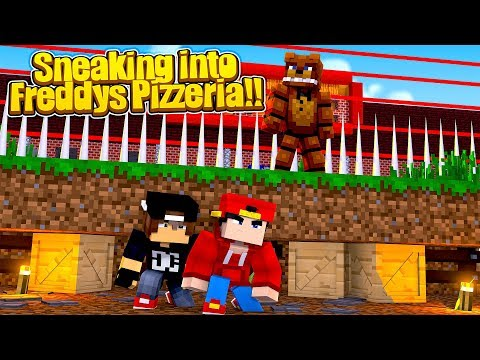 Minecraft Adventure - SNEAKING INTO FREDDY FASBEAR'S PIZZERIA CHALLENGE!