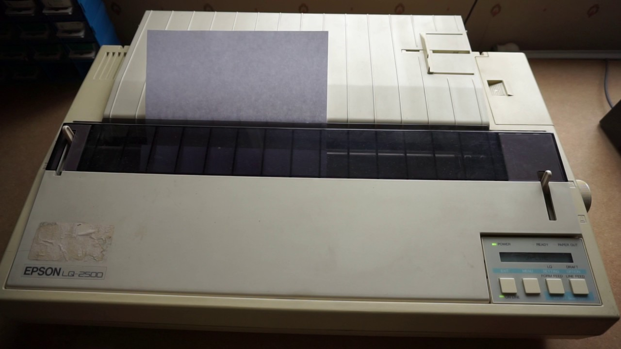 Dot Matrix Printer From 1986 Printing In Windows 10