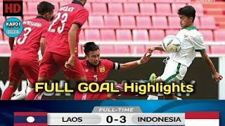 Indonesia u16 vs laos u16  FT: 3 - 0.. Kualifikasi piala afc u16 2018