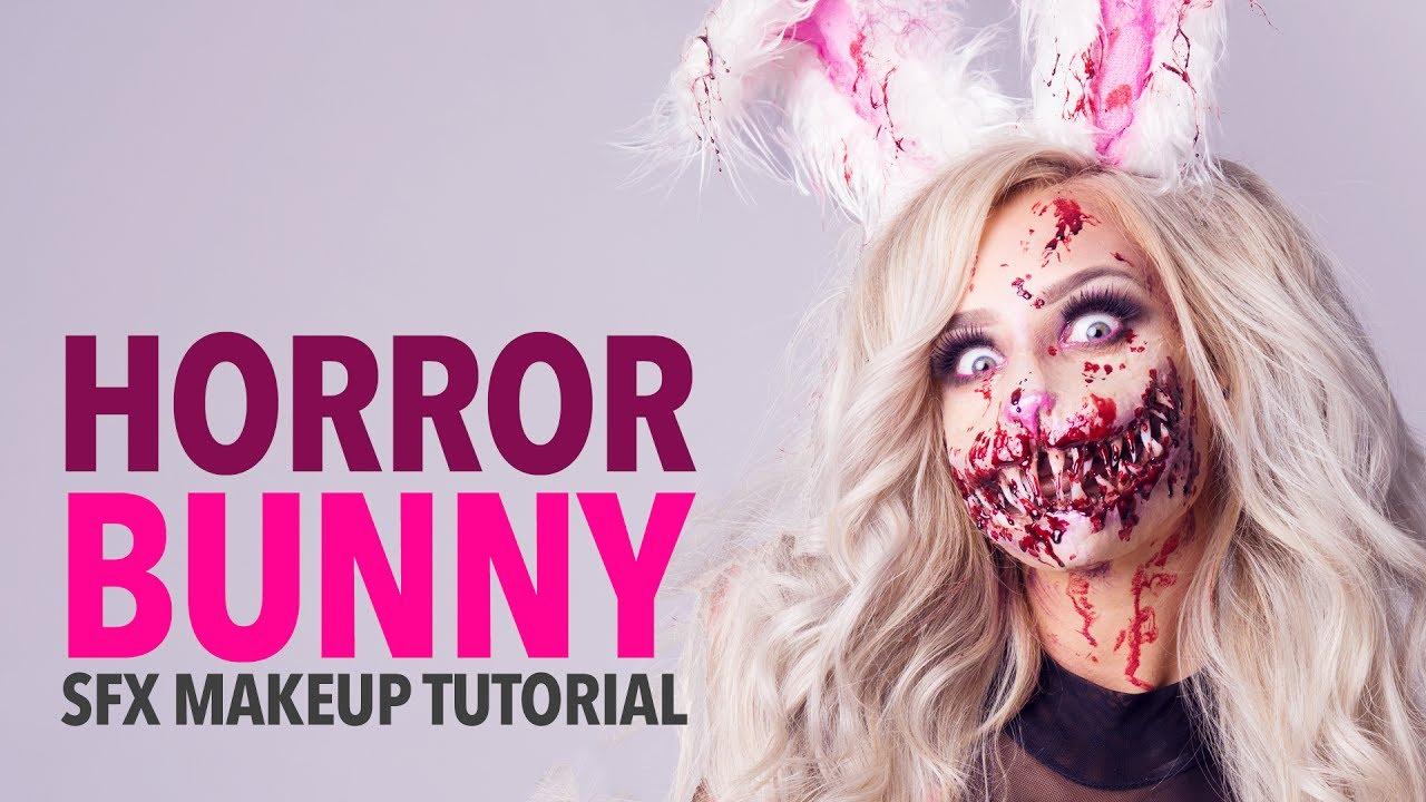 Horror Bunny Special Fx Makeup Tutorial Youtube