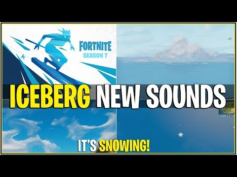 *NEW* ITS SNOWING RIGHT NOW *Iceberg New LOUD Sound FX* Fortnite