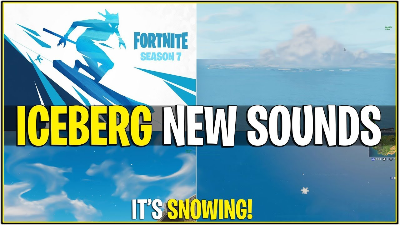 New It S Snowing Right Now Iceberg New Loud Sound Fx Fortnite