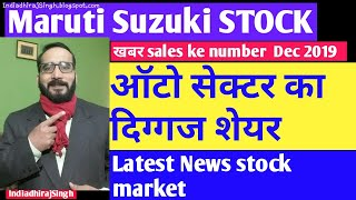 MARUTI SUZUKI STOCK LATEST News UPDATES SALES NEWS auto sector Ka दिग्गज शेयर