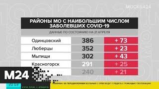 Наибольшее число случаев заражения COVID-19 в Подмосковье зафиксировали в Одинцове - Москва 24
