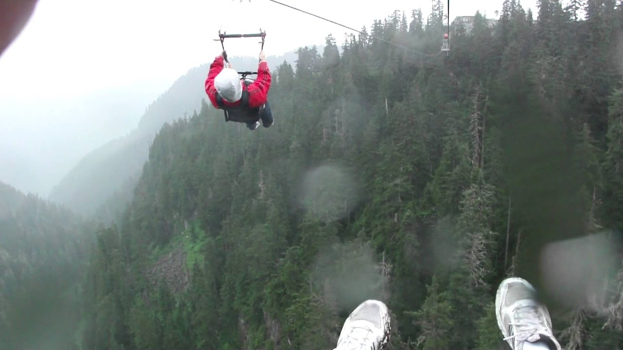 Zip Line On Grouse Mountain