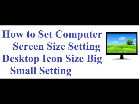 computer screen size and Icon Size settings