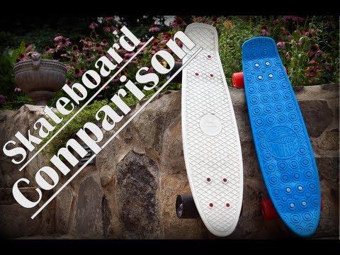 Penny Board Vs. Banana Board  Comparison + Test Ride - YouTube 648a7207443