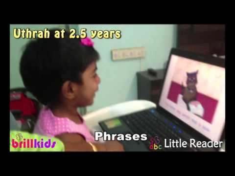 Toddler Uthrah reading at 2 5 ...