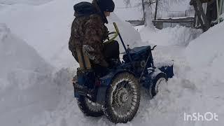 Проверка на прочность Минитрактора  снегом