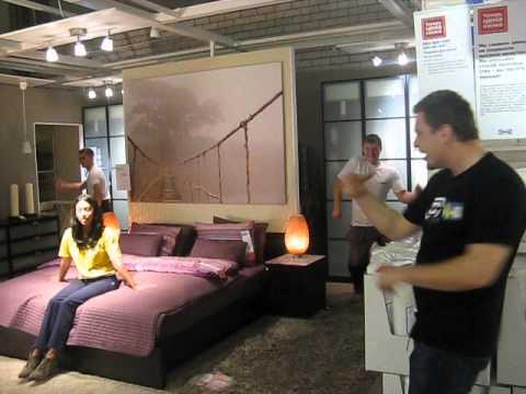 IKEA Novosibirsk presents Sibweek backstage - scene in bed