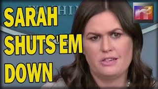 BOOM! Reporter Tries to Throw TREASON in Trump's FACE and Immediately Sarah Sanders Shuts Him Down