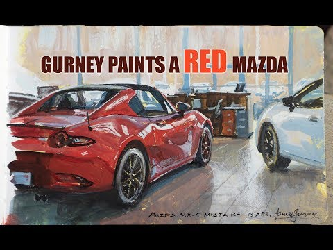 James Gurney Paints a Red Mazda
