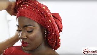 MAKEUP AND GELE|DARK  SKIN|YORUBA BRIDE |LONDON MAKEUP ARTIST|NIGERIAN WEDDING  COMPLETE EP4