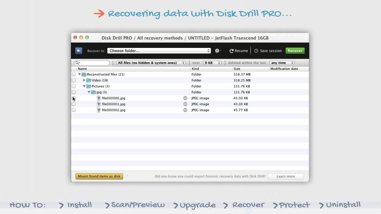 Disk Drill 2 : Recovering data with Disk Drill PRO | Video Tutorial #4