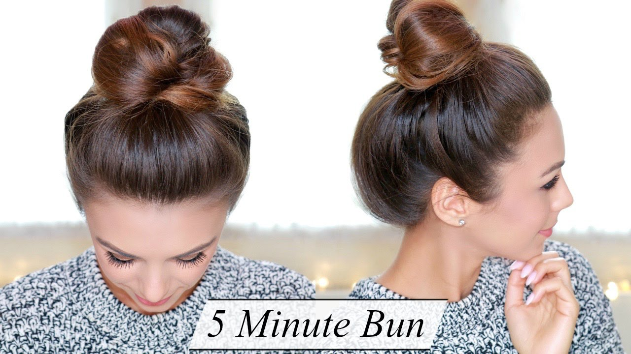 5 minute bun quick easy & chic