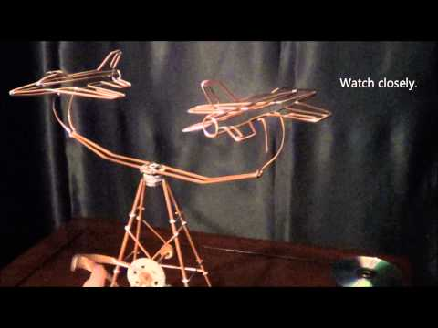 Jet Kinetic Wire Sculpture, Model #24