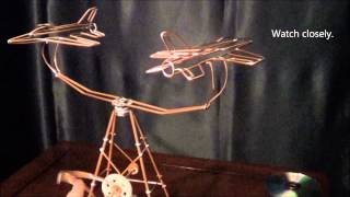 Jet Kinetic Wire Sculpture, Model #24