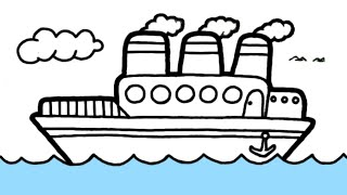 Cara Menggambar Kapal Laut Youtube
