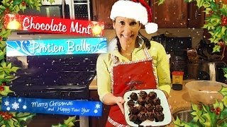 Chocolate Mint Protein Balls - Christmas Edition