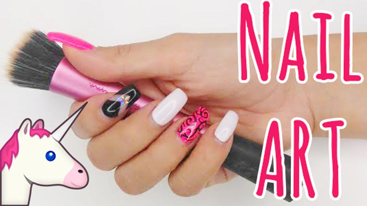 Nail Art #6 - Romantik Fashion Gelnägel - YouTube
