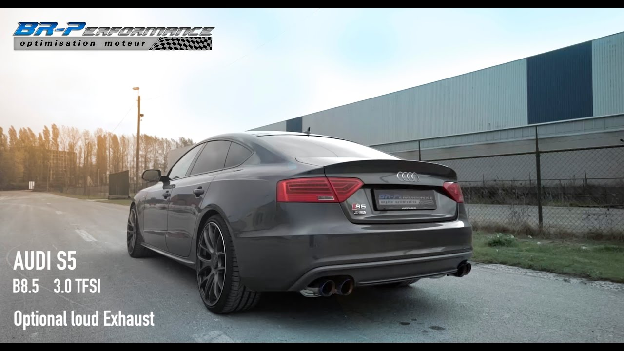 audi s5 3 0 tfsi brp loud exhaust by br performance youtube. Black Bedroom Furniture Sets. Home Design Ideas