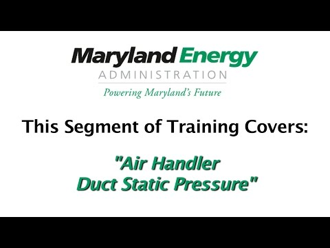 6 Air Handler Duct Static Pressure
