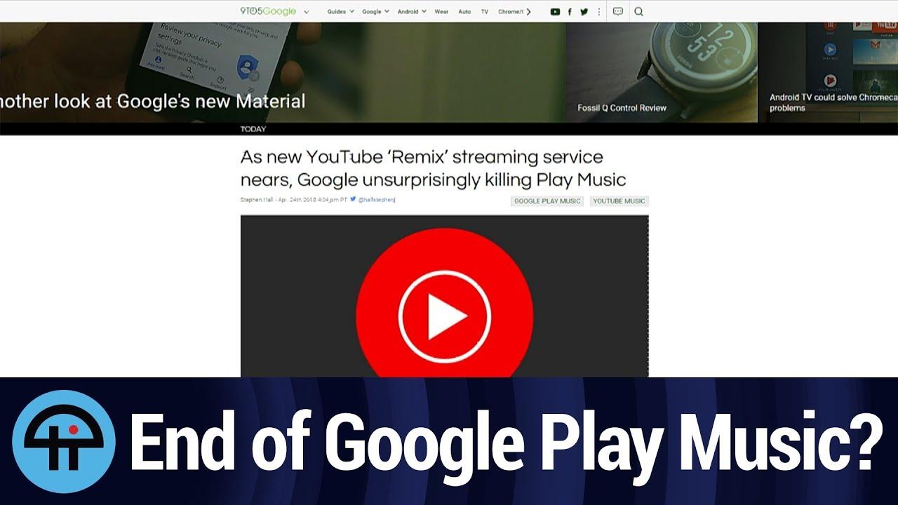 Goodbye Google Play Music?
