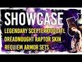 Guild Wars 2 Showcase - Legendary Scepter Xiuquatl, Requiem Armor sets, Dreadnought Raptor Skin