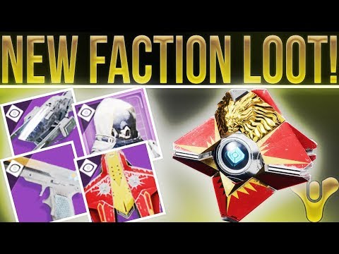 DESTINY 2 NEWS! (New Faction Gear, Rewards, Requirements, Special Weapon With Lore & New Activities)