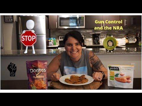 "Gardein Crispy ""Chicken"" Tenders Mukbang | Boycott NRA | Gun Control"