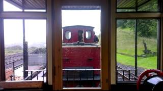 Graf Schwerin Lowitz Coupling up at Brecon Mountain Railway 7th July 2012