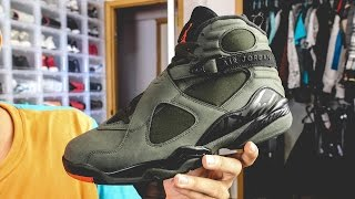 Air Jordan 8 Sequoia Undefeated First Look!!!